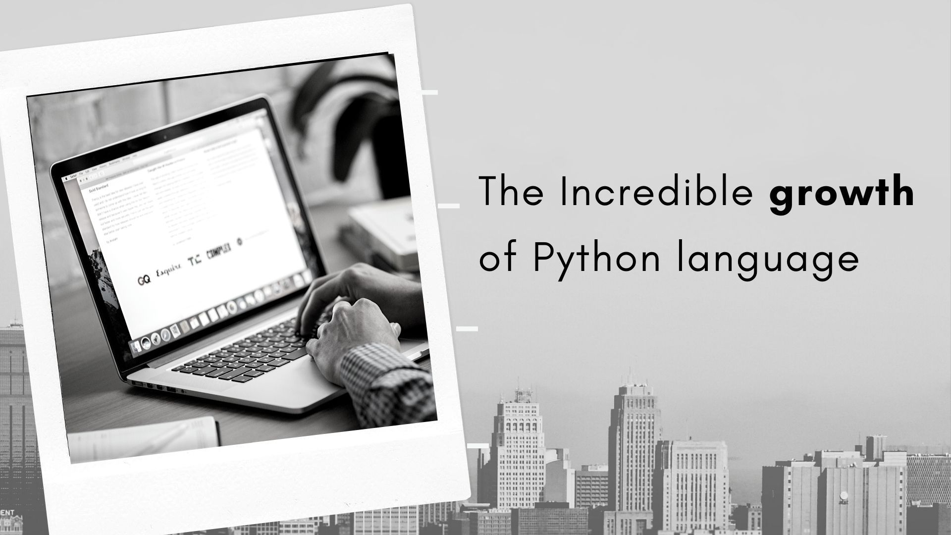 The incredible growth of Python language