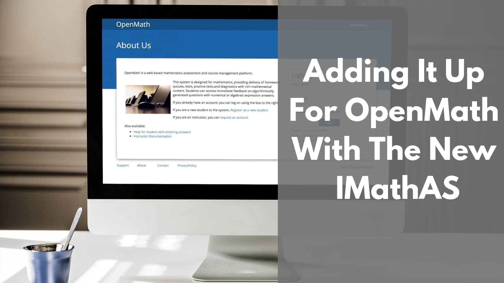 Adding It Up For OpenMath With The New IMathAS